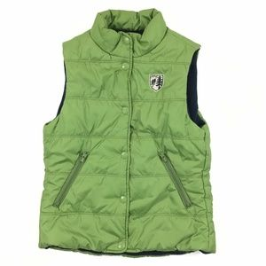 American Eagle Puffer Vest Womens Size XS Green So